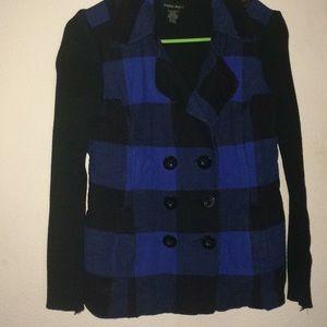 Pea coat style sweater